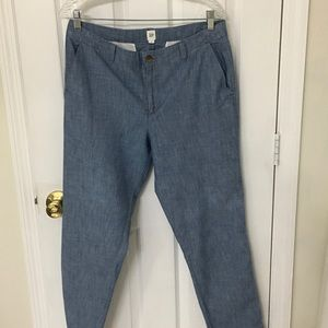 Gap chambray ankle length chino pants